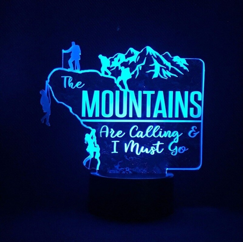 Hiker Outdoor Climbers Moulding - 3D Night Light Table Lamp