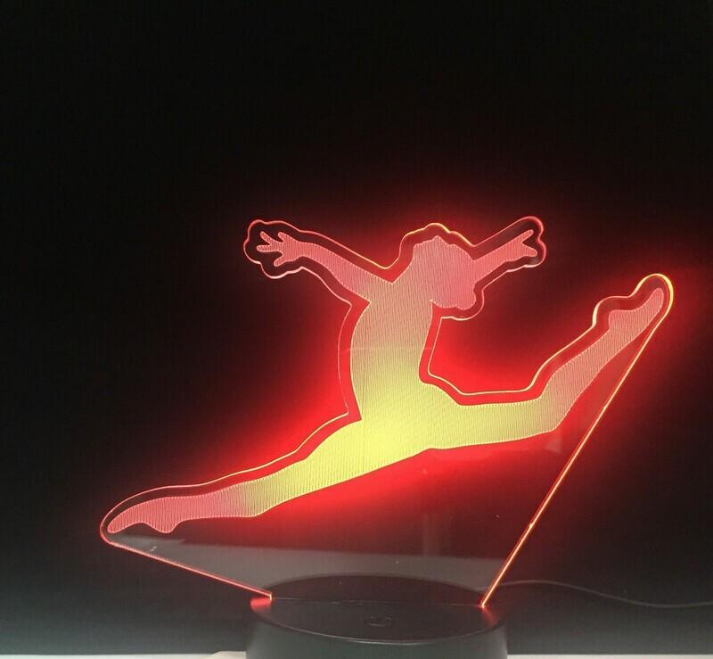 Splitting Jump Dance - 3D Night Light Table Lamp