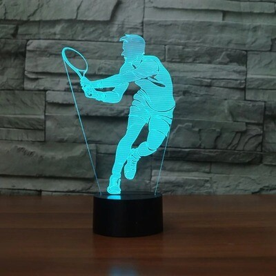 Novelty Tennis Men - 3D Night Light Table Lamp