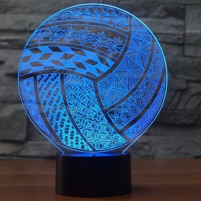 Stylish Volleyball Ball Modelling - 3D Night Light Table Lamp