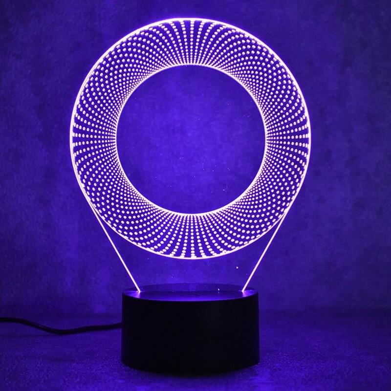 Ring Circle - 3D Night Light Table Lamp