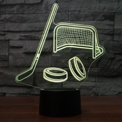 Ice Hockey Modelling - 3D Night Light Table Lamp