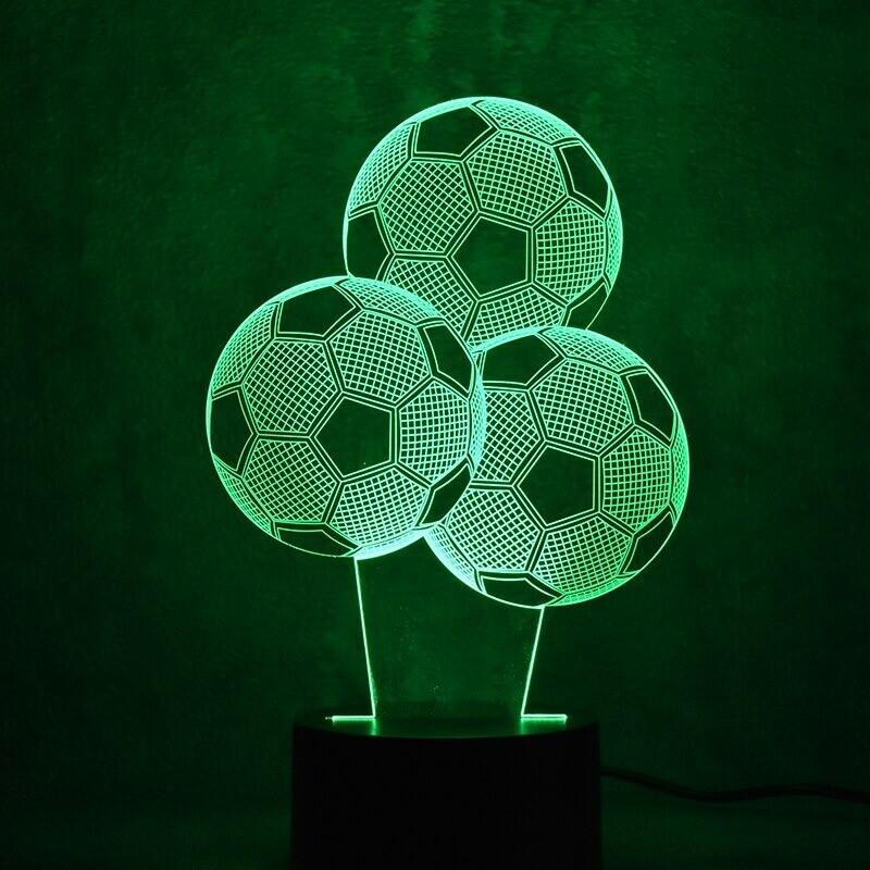 Football Visual  - 3D Night Light Table Lamp