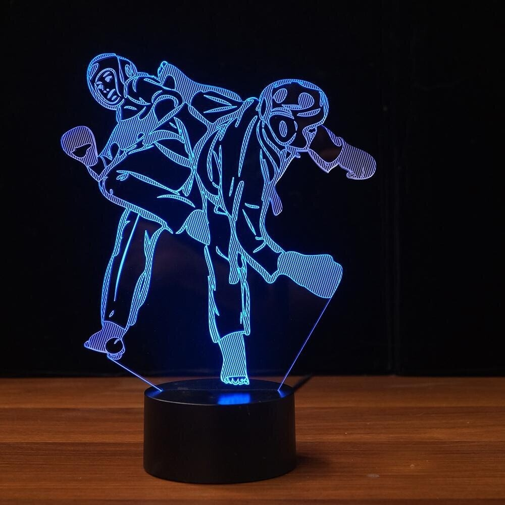 Martial Arts Shape - 3D Night Light Table Lamp