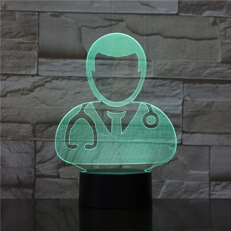 The Doctor - 3D Night Light Table Lamp
