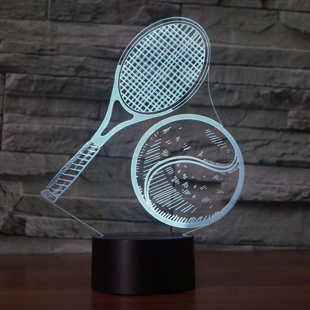 Tennis Modelling - 3D Night Light Table Lamp