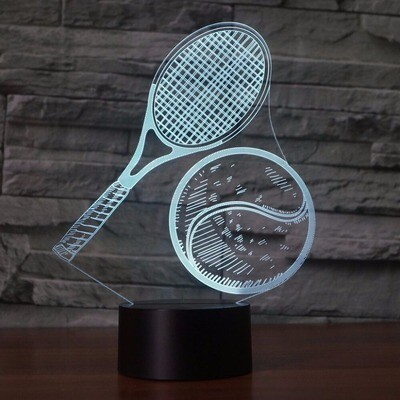 Tennis Modelling - 3D Night Light Table Lamp