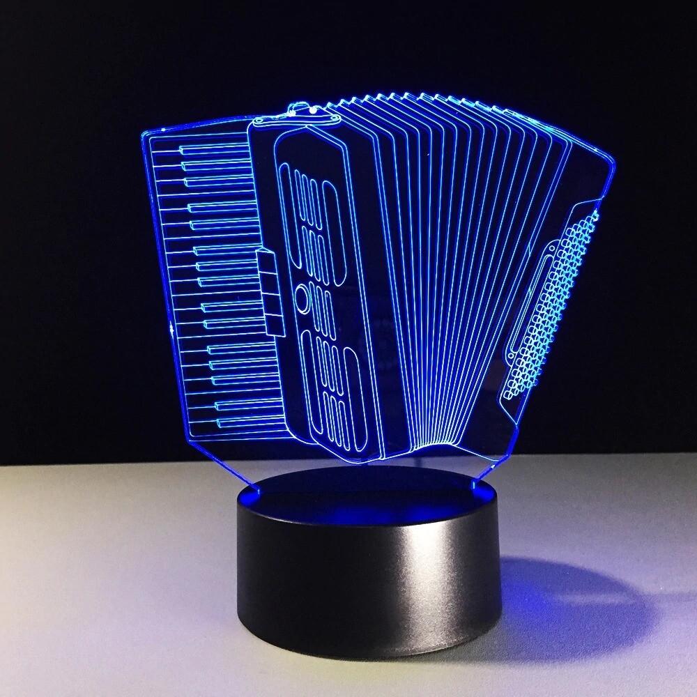 Accordion - 3D Night Light Table Lamp
