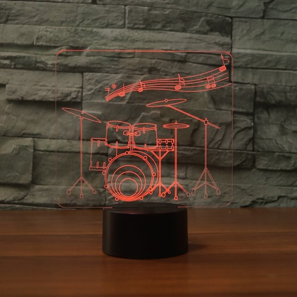 Art Drum - 3D Night Light Table Lamp