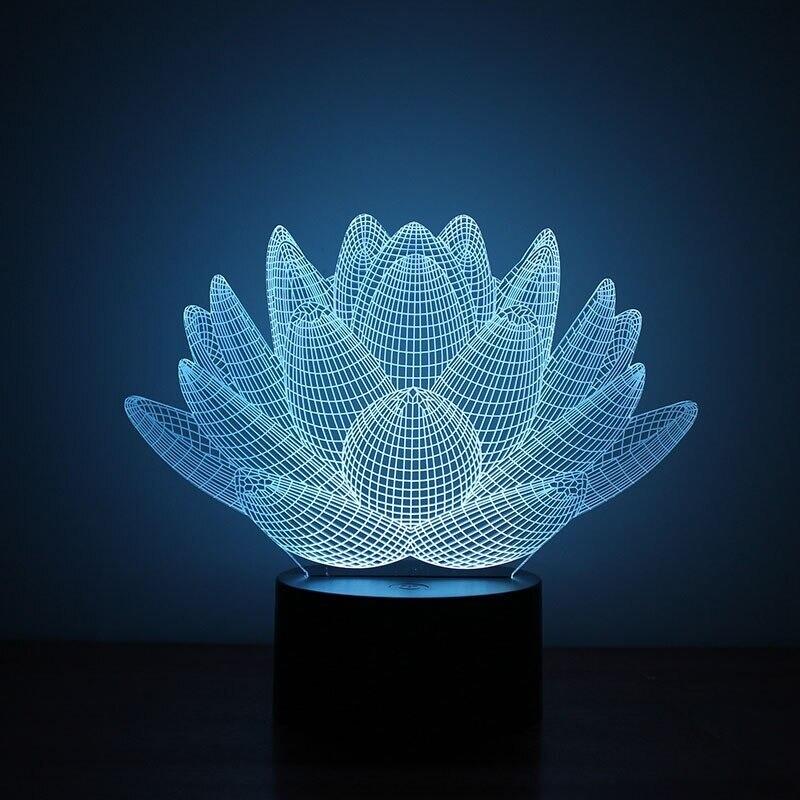 Succulent Plant - 3D Night Light Table Lamp