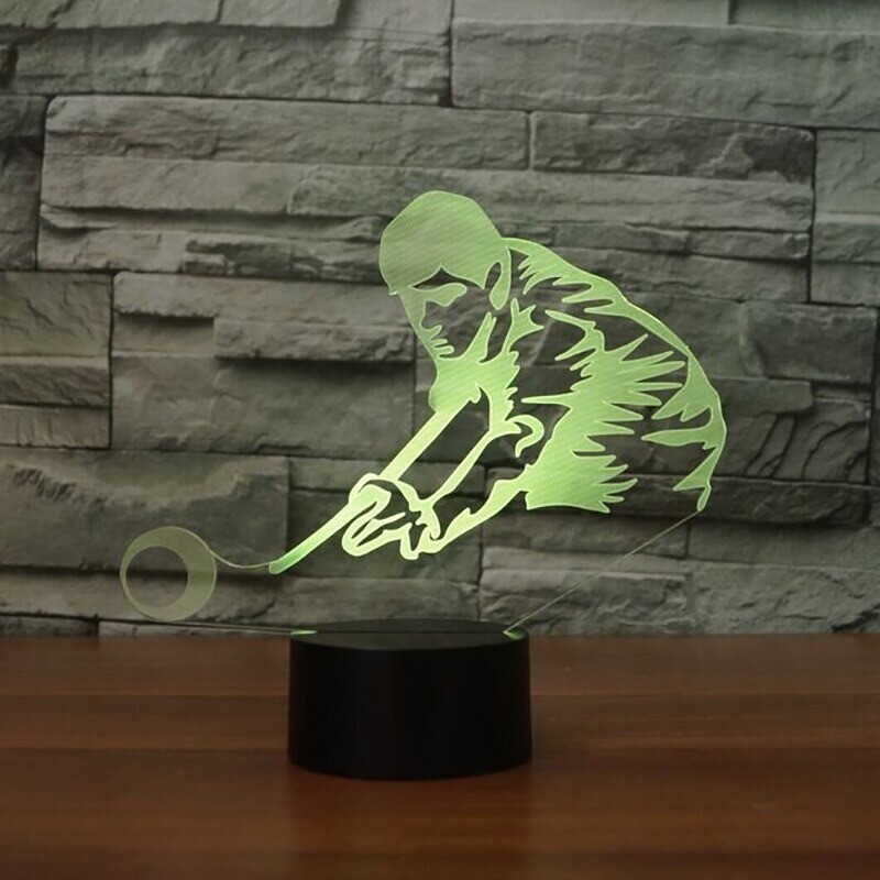 Play Billiards Man - 3D Night Light Table Lamp