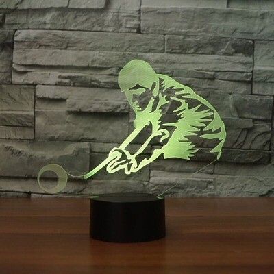 Play Billiards Man - 3D Night Light Table Lamp
