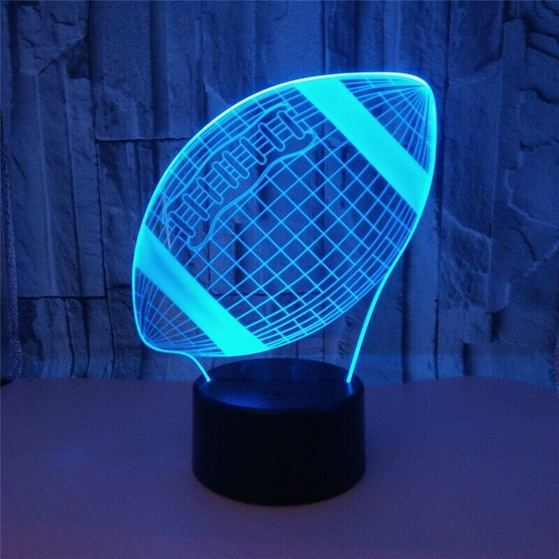Rugby Football - 3D Night Light Table Lamp