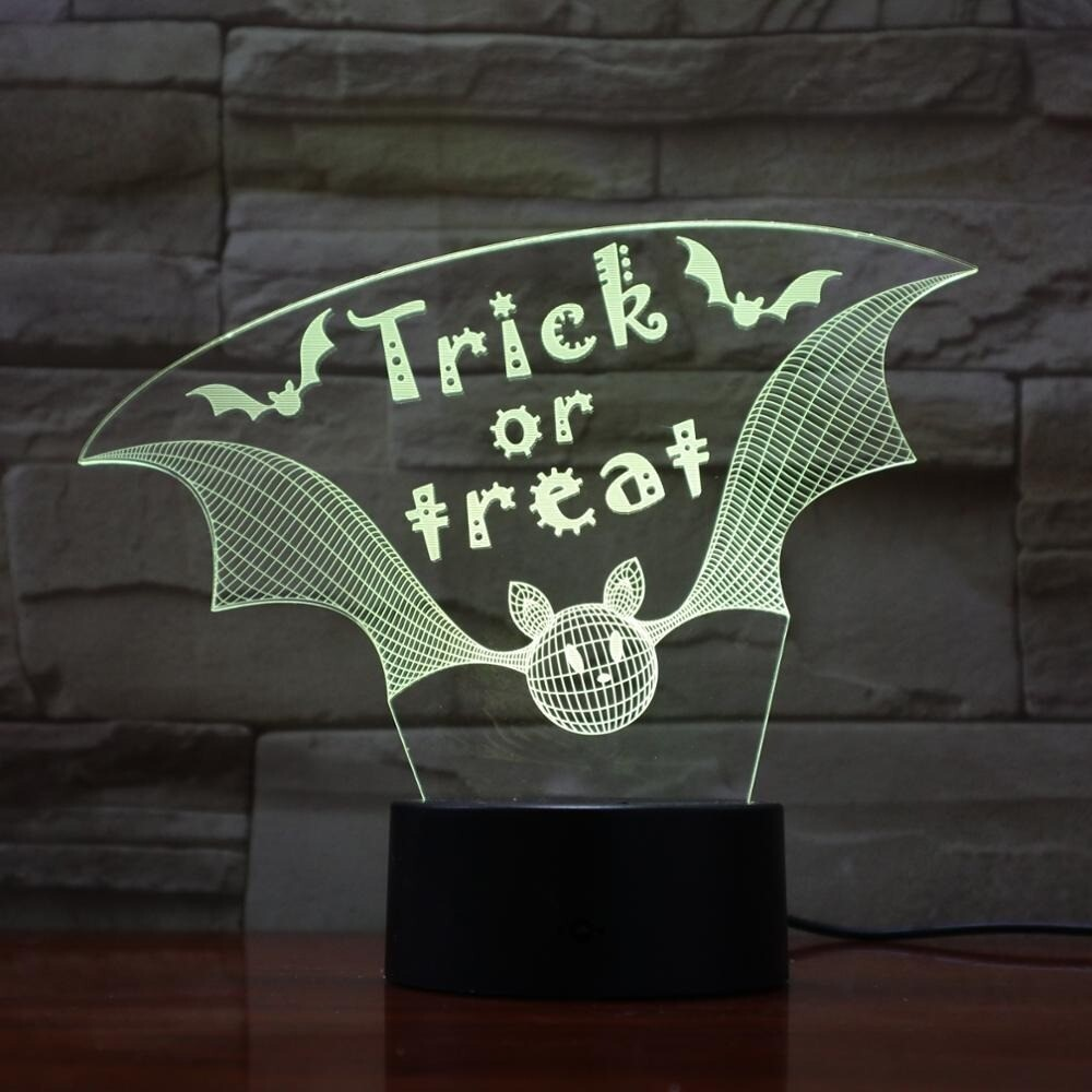 Trick or Treat - 3D Night Light Table Lamp