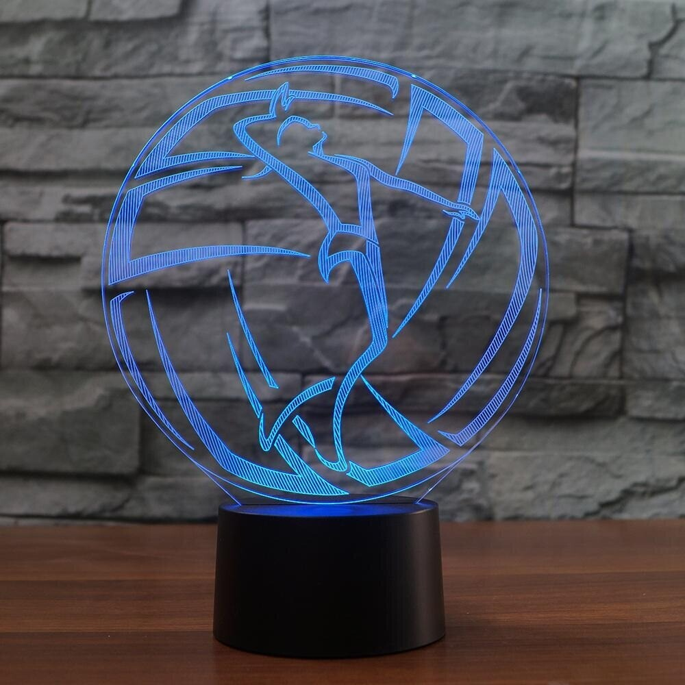 Volleyball Shape - 3D Night Light Table Lamp