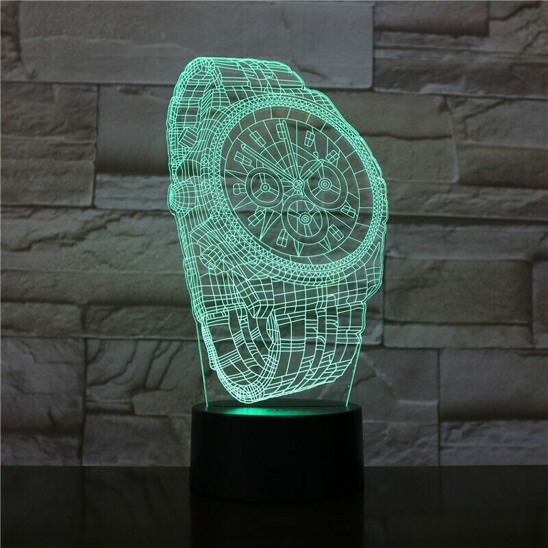Wrist Watch - 3D Night Light Table Lamp