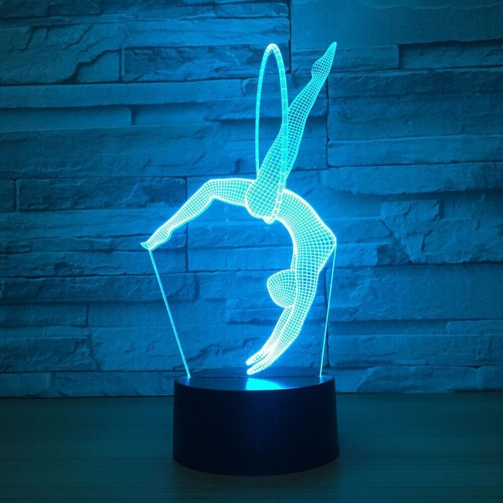 Art Gymnastics Movement - 3D Night Light Table Lamp