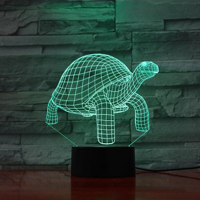 Turtle - 3D Night Light Table Lamp