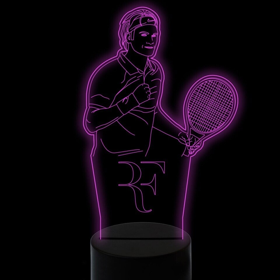Tennis Player Modelling - 3D Night Light Table Lamp