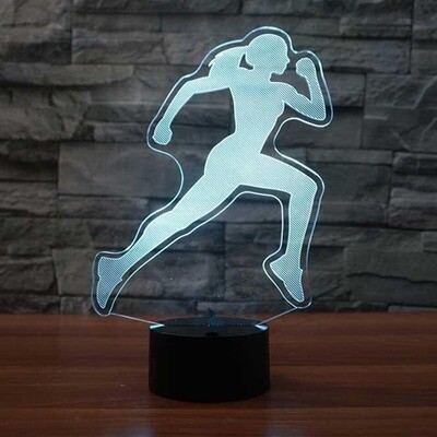 Vision Female Runners - 3D Night Light Table Lamp