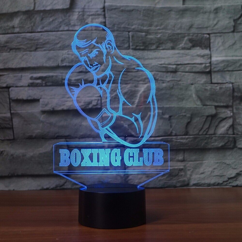 Visual Boxing Man Modelling Enthusiast - 3D Night Light Table Lamp