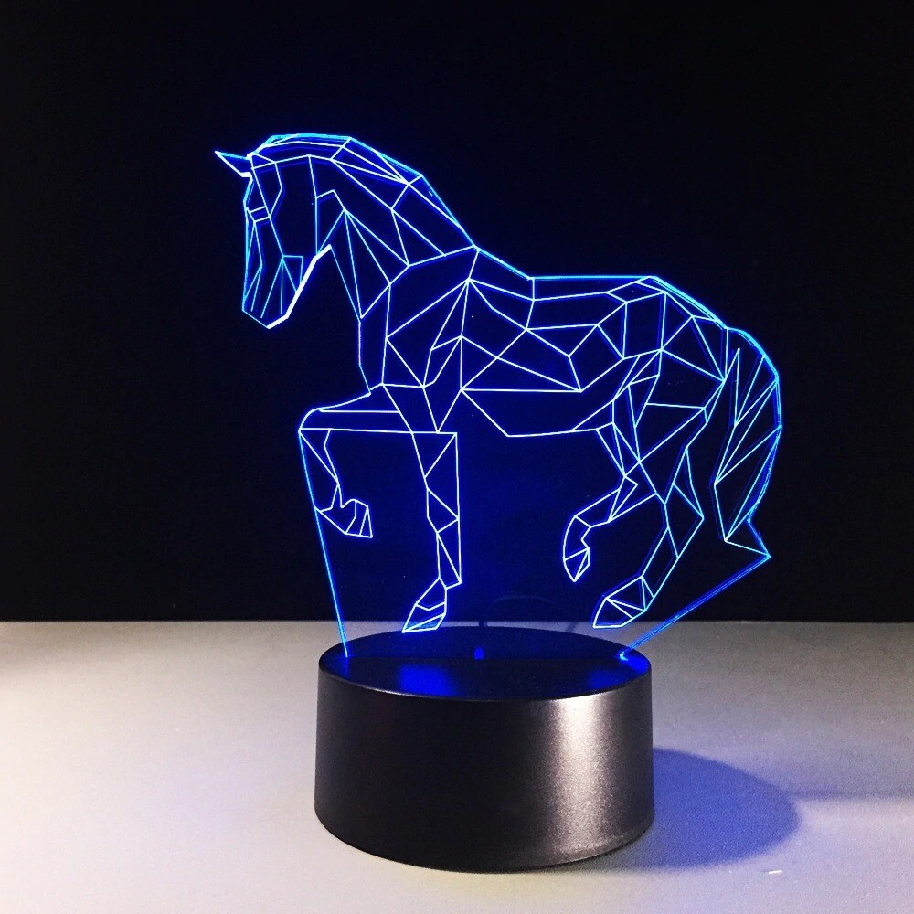 Animal Horse - 3D Night Light Table Lamp
