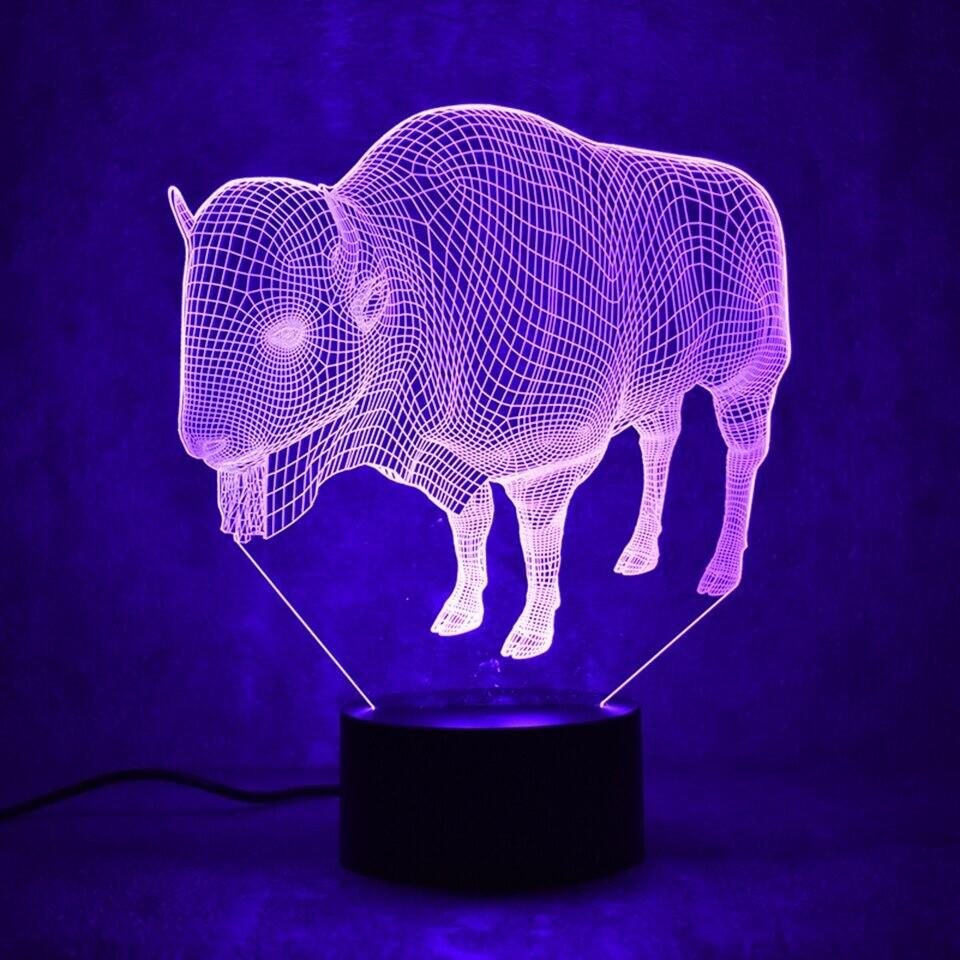 Buffalo - 3D Night Light Table Lamp