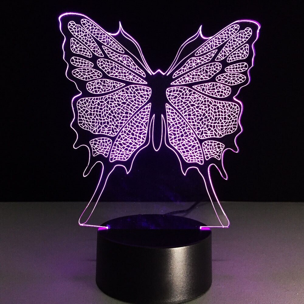 Butterfly - 3D Night Light Table Lamp