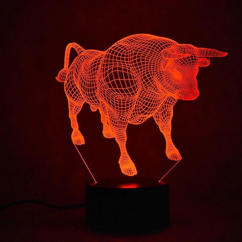 Cattle Animal - 3D Night Light Table Lamp