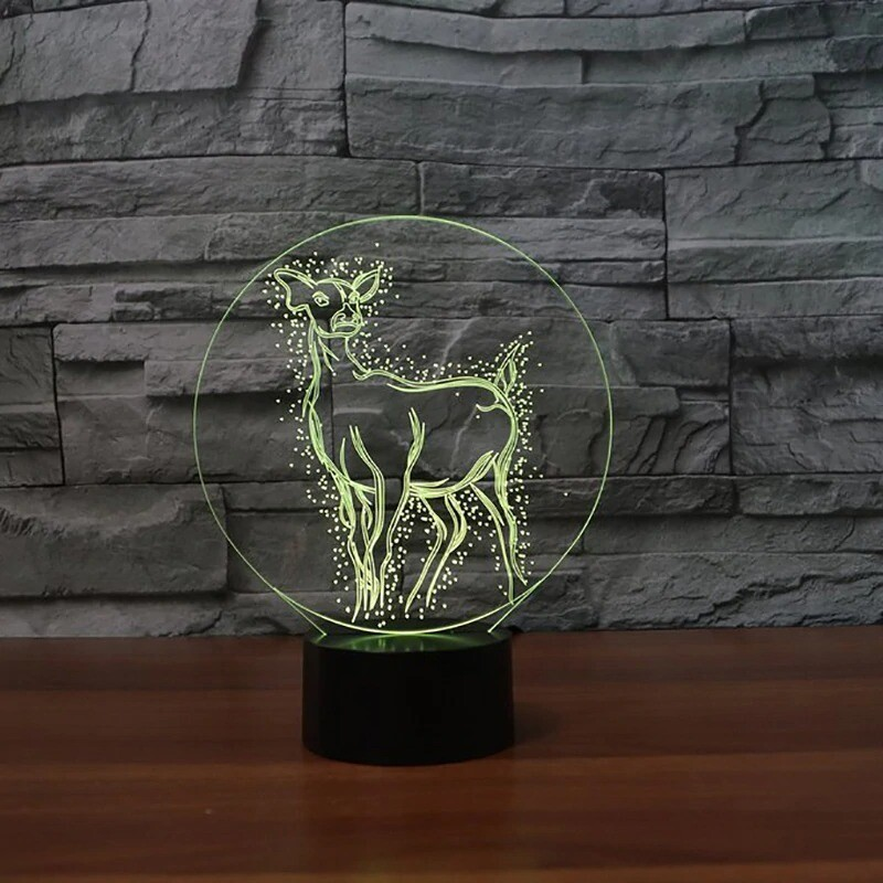 Deer - 3D Night Light Table Lamp
