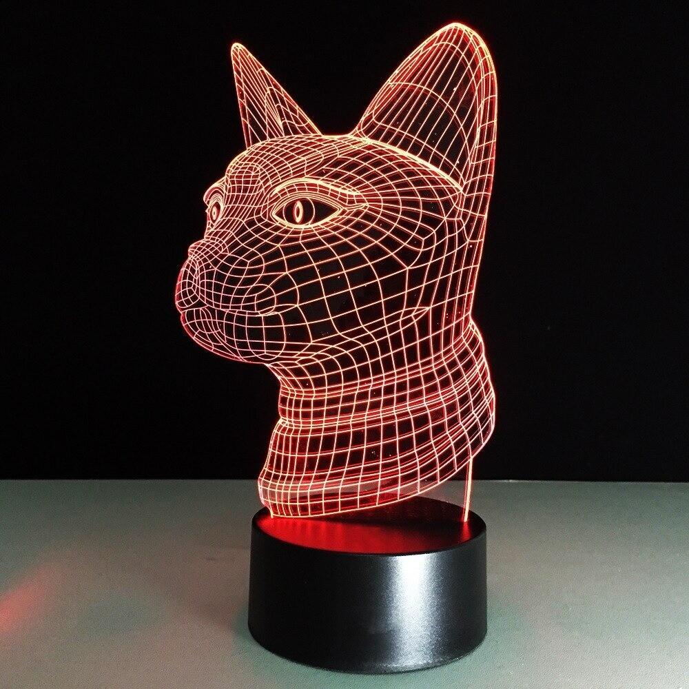 Cat Head - 3D Night Light Table Lamp