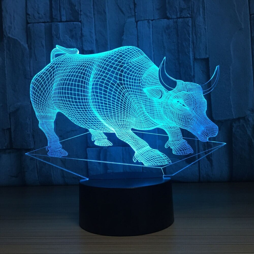 Cow - 3D Night Light Table Lamp