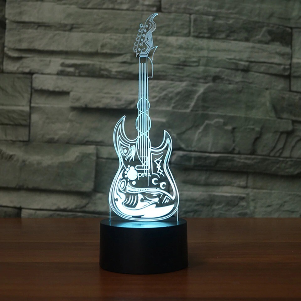 Guitar 4 - 3D Night Light Table Lamp