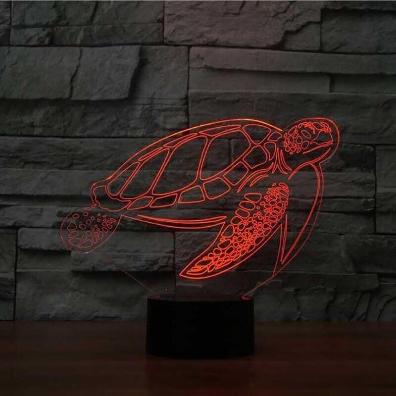Bedside Sea Turtle - 3D Night Light Table Lamp