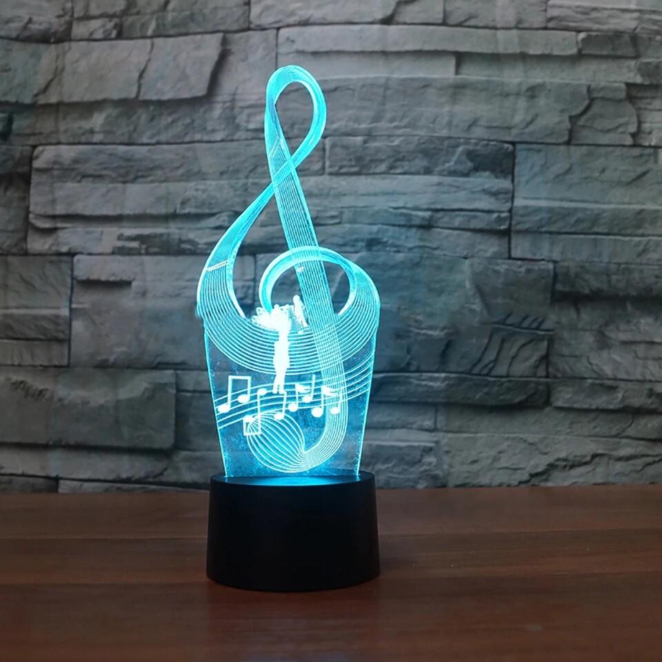 Art Music Notation - 3D Night Light Table Lamp