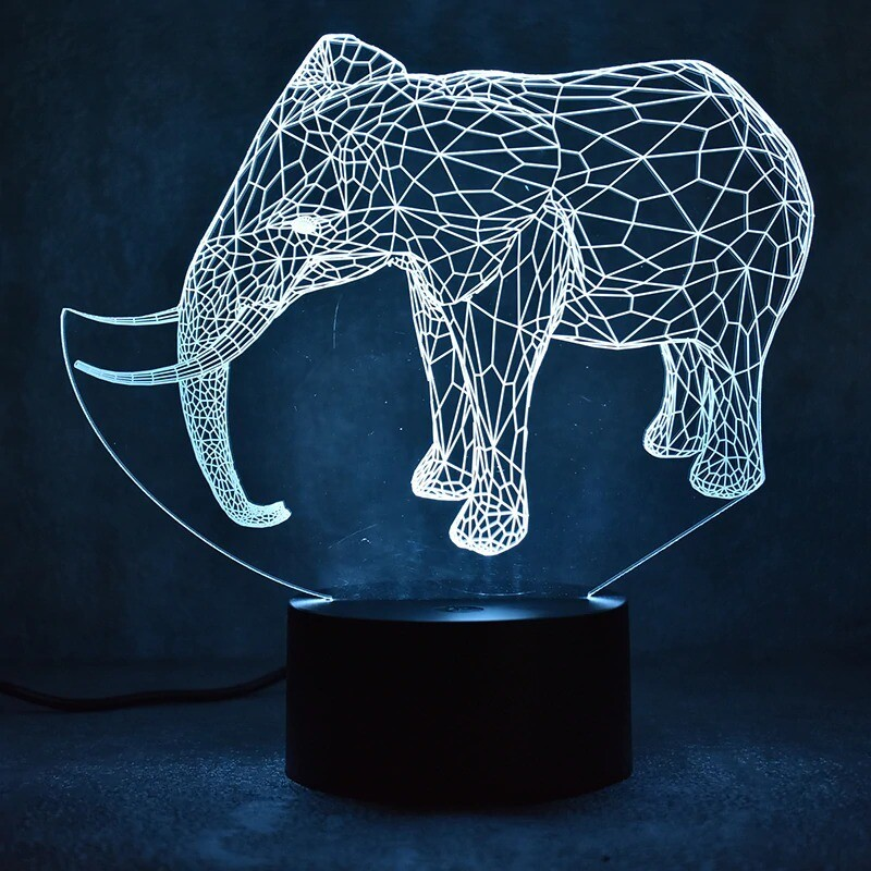 Fashion Elephant - 3D Night Light Table Lamp