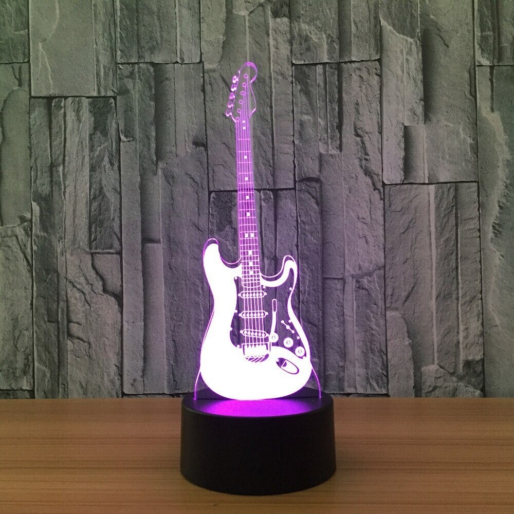 Cool Guitar Bass - 3D Night Light Table Lamp