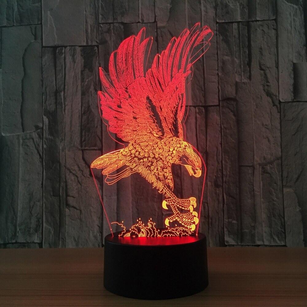 Fierce Eagle - 3D Night Light Table Lamp