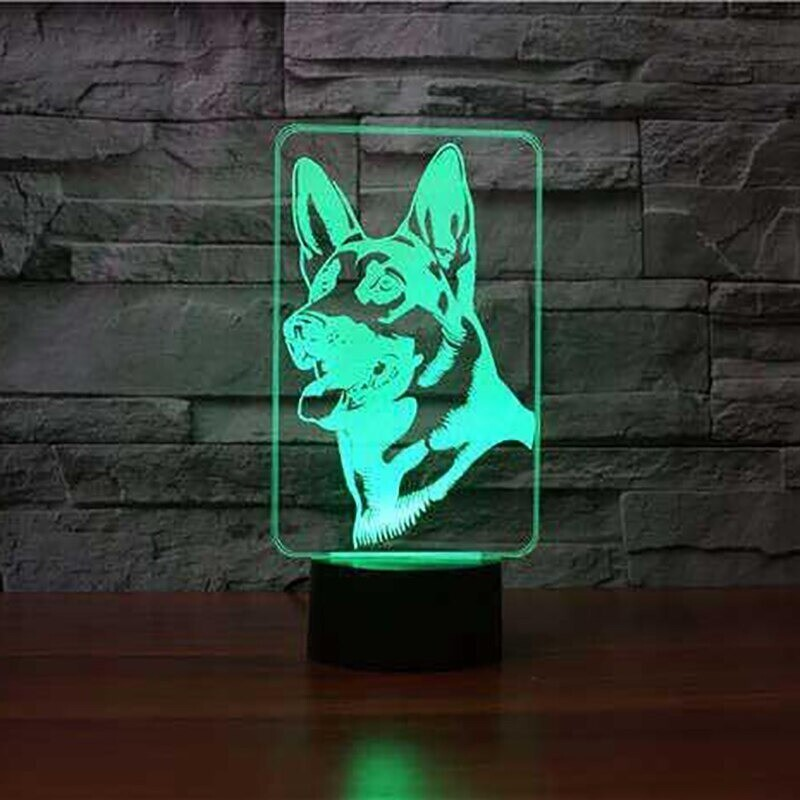 German Shepherd - 3D Night Light Table Lamp