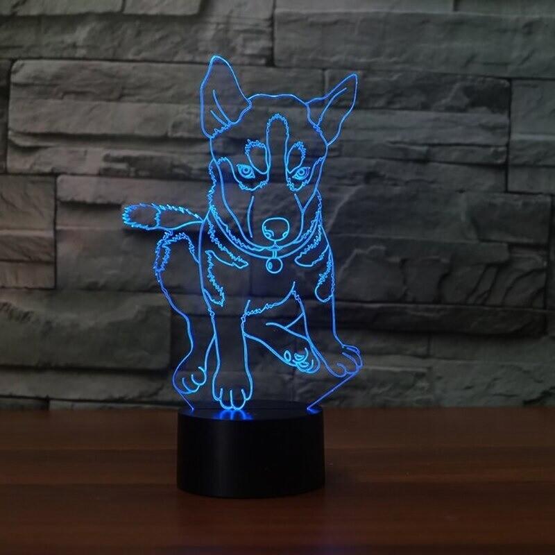 Husky - 3D Night Light Table Lamp