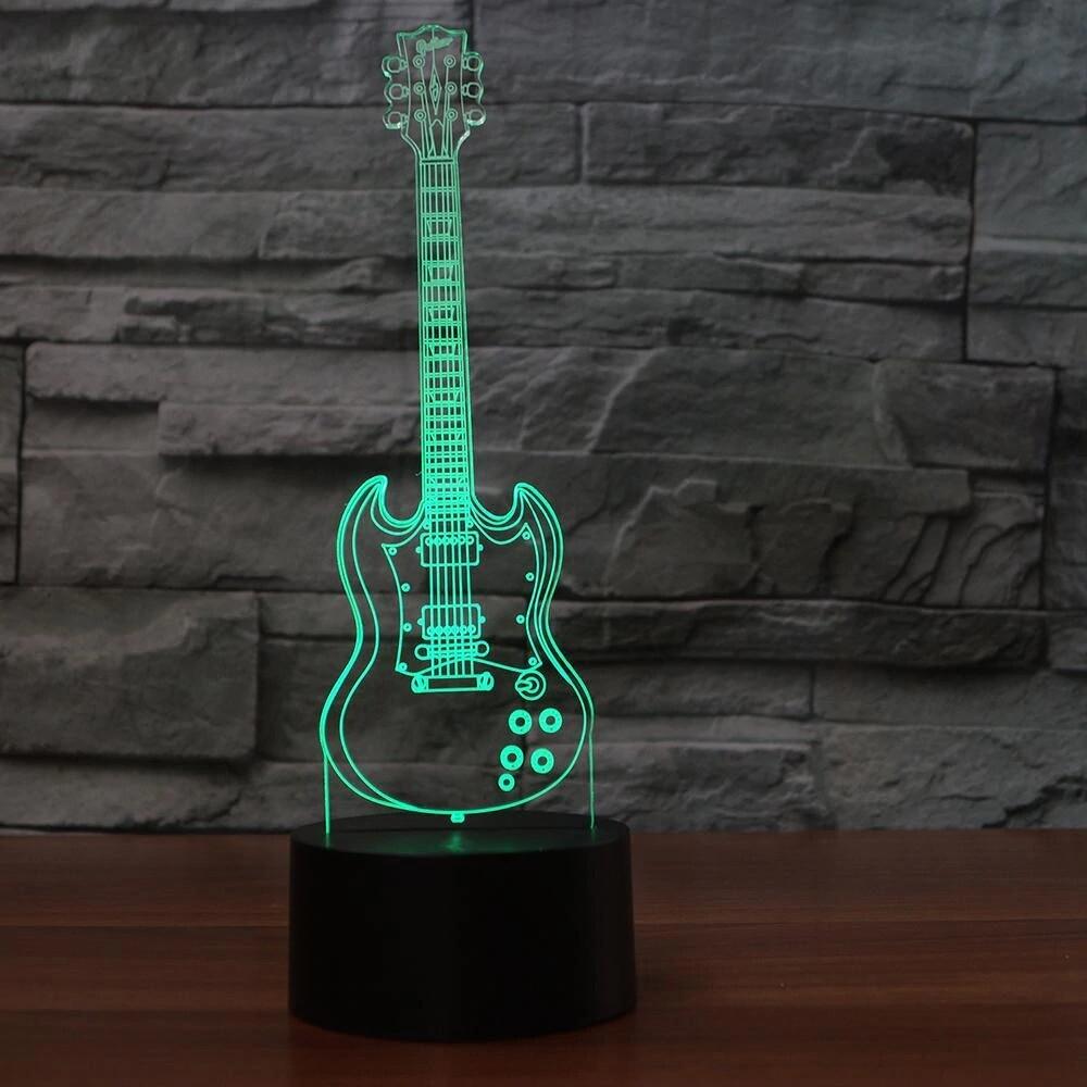 Guitar - 3D Night Light Table Lamp