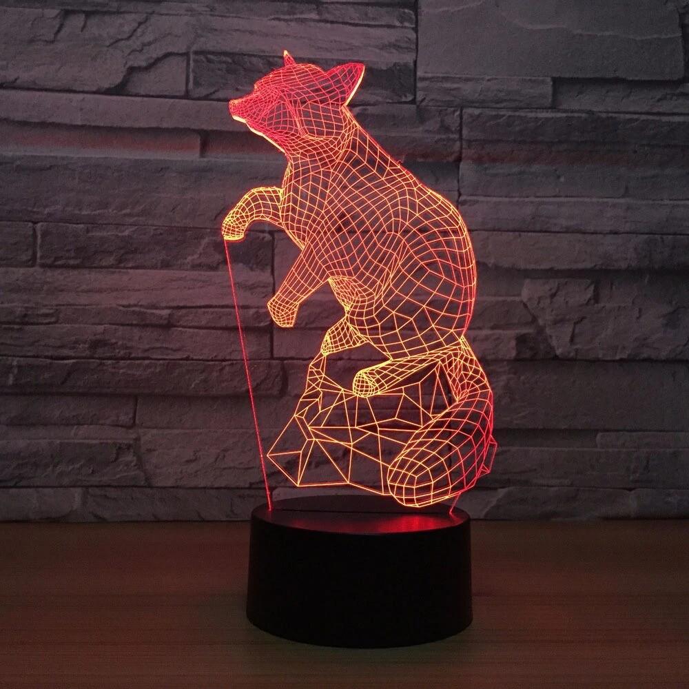 Gradients - 3D Night Light Table Lamp
