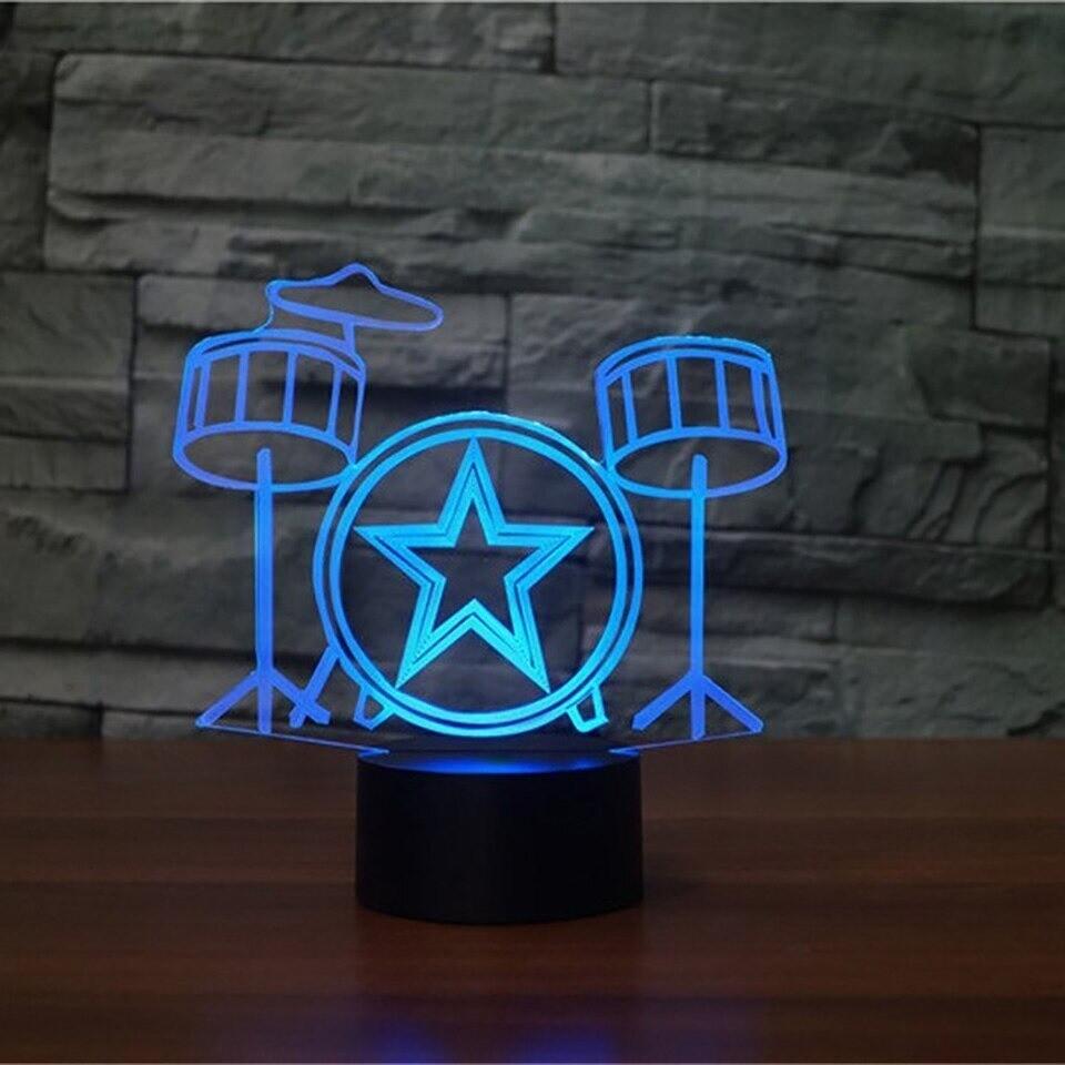 Drum Set - 3D Night Light Table Lamp