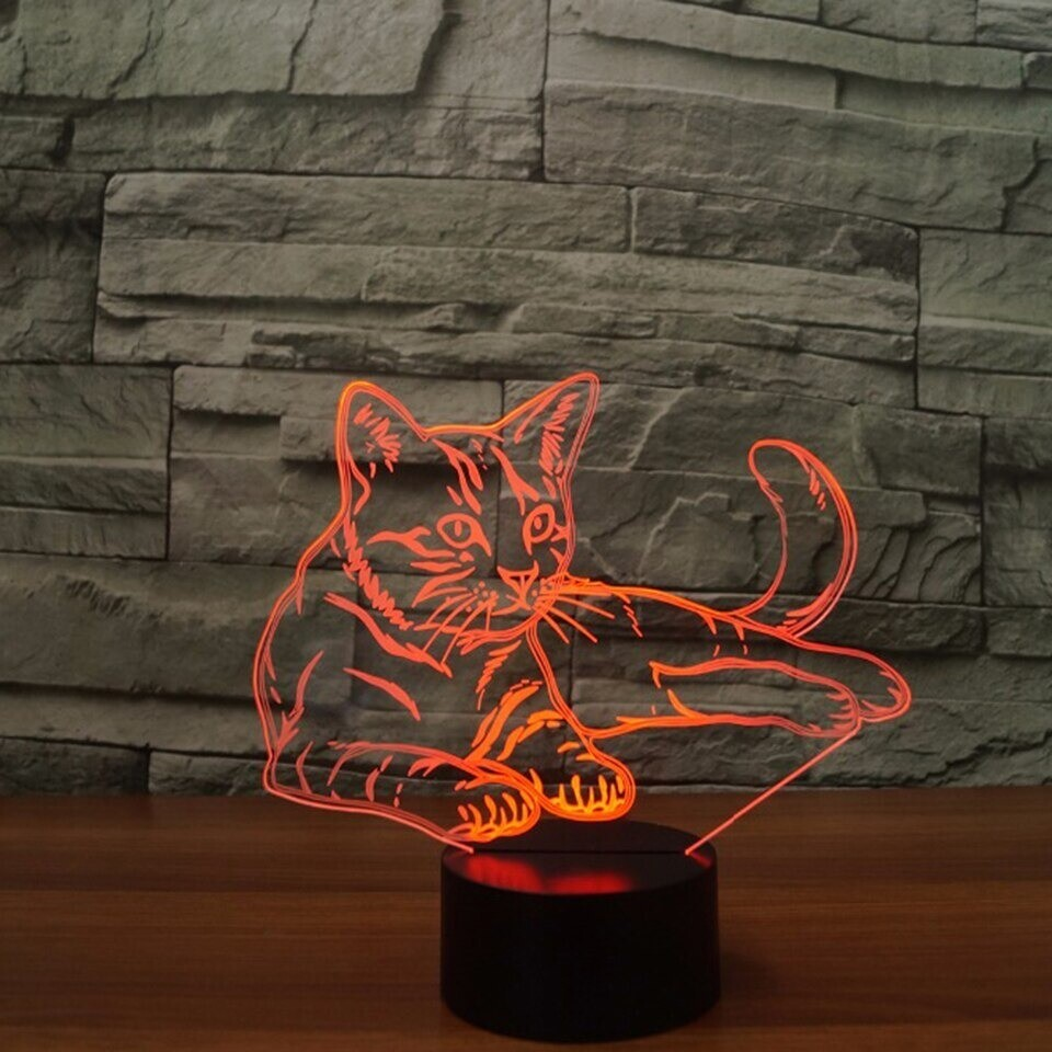 Cat - 3D Night Light Table Lamp
