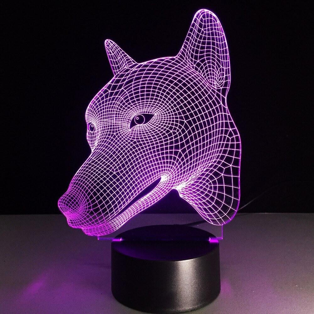 Dog Head - 3D Night Light Table Lamp