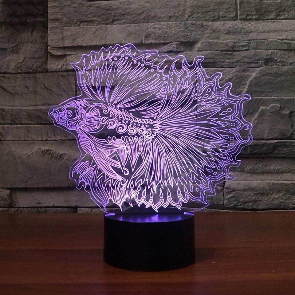 Guppy Fish - 3D Night Light Table Lamp