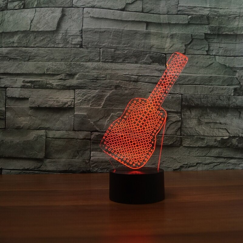 Guitar Moulding - 3D Night Light Table Lamp