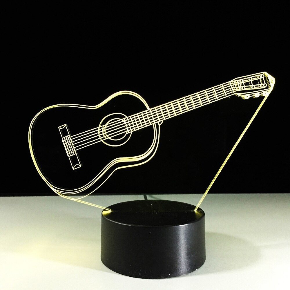 Guitar 3 - 3D Night Light Table Lamp