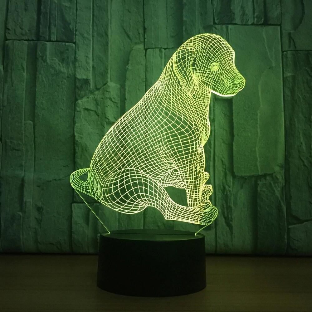 Cute Dog - 3D Night Light Table Lamp