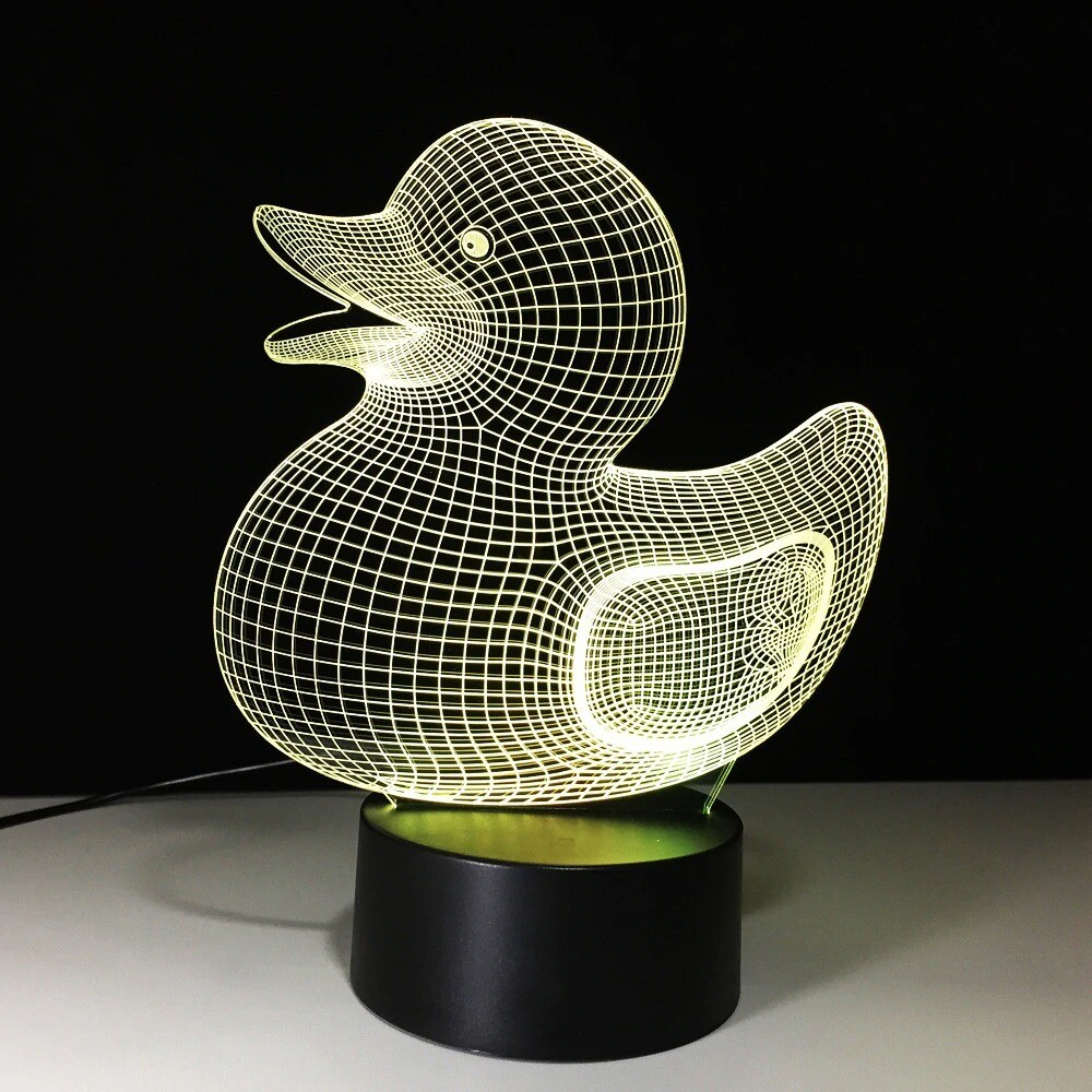 Cute Duck - 3D Night Light Table Lamp